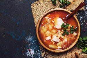 Shchi - Soup From Sauerkraut, Meat A