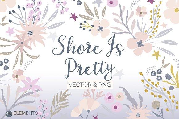 Shore is Pretty - Folk Flowers