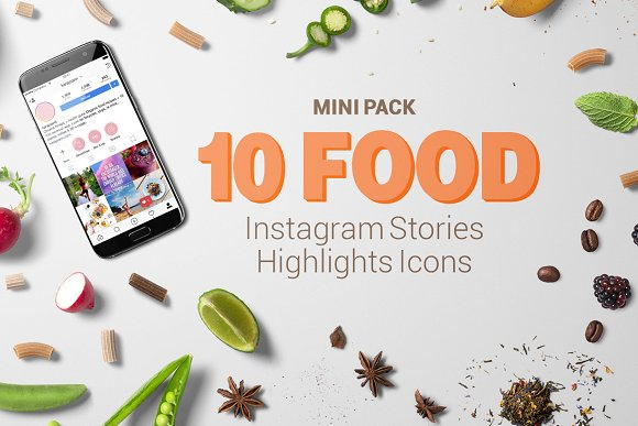 10 Food Instagram Stories Icons