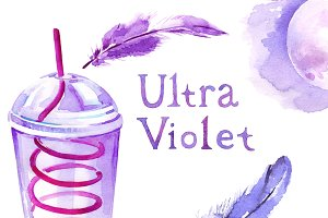 Ultraviolet watercolour collection