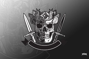 Skull and Daggers Vector