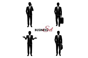 Businessman set, man in a business