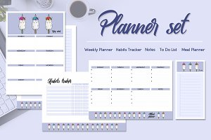 Ice cream planner set