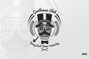 Gentleman Skull Club Badge