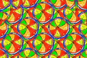 Colorful Hand Draw Geometric Seamles
