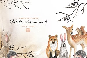 Watercolor animals