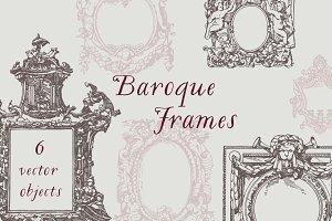 Baroque Frames Vector Pack