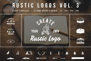 Rustic Logos Volume 3 AI EPS PNG PSD