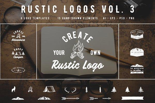 Rustic Logos Volume 3 AI EPS PNG PS…