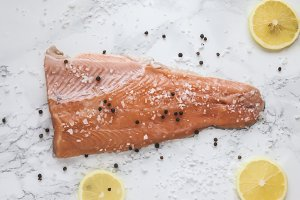 pickled salmon gravlax with pepper a