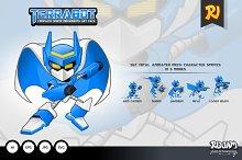 Terrabot Game Player Sprite Art Pack