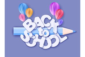 Back to school banner with air