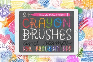 Procreate Crayon Brushes and Stamps