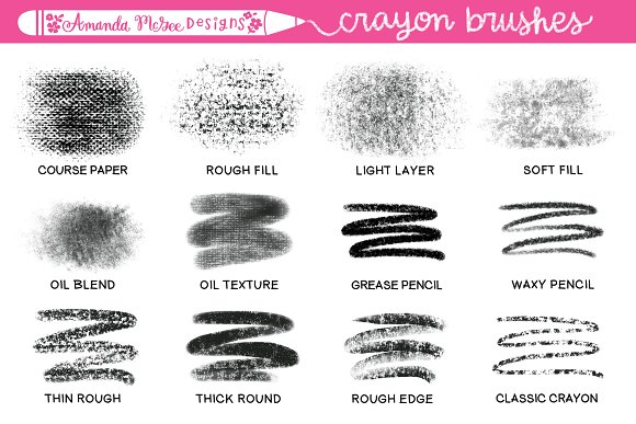 procreate crayon brushes and stamps brushes creative market