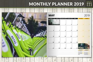 Monthly Planner 2019 (MP017-19-1)