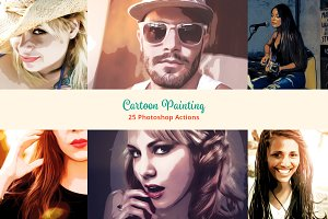 25 Cartoon Painting Photoshop Action