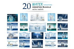 Vector Mega bundle 20 water cosmetic