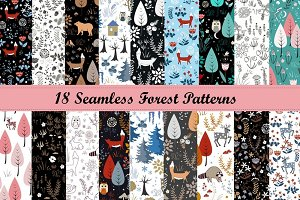 Forest Seamless Pattern Collection