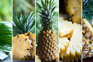 Pineapple in natural conditions