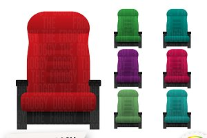 Cinema Seat Cliparts