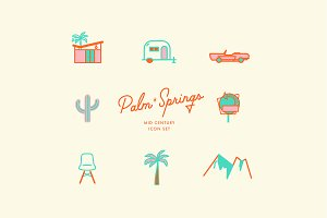 Palm Springs Icon Set