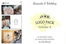 Logo Pack Vol.2. Romantic & Wedding