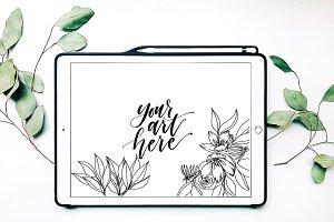 iPad Mockup Styled Stock Photo with