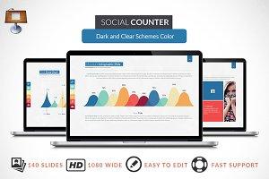 Social Counter | Keynote Template