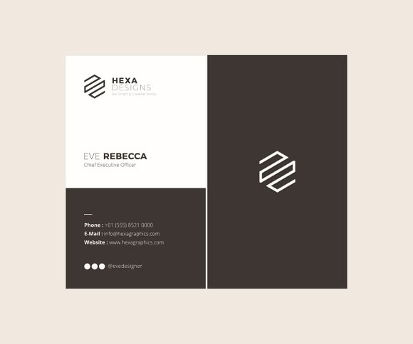 Vertical Business Card Template Business Card Templates Creative