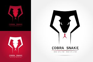 graceful cobra snake silhouette logo