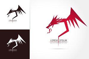 graceful dragon silhouette logo