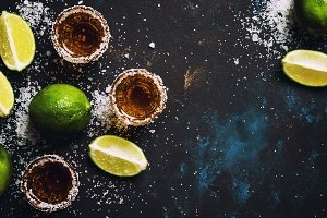 Tequila With Lime And Salt, Black Dr