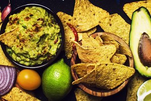Mexican Food Concept, Corn Nachos an