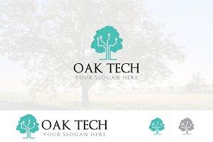 Oak Network Technology Computer Logo