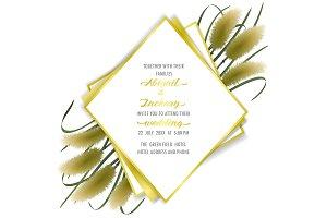 Miscanthus Wedding Invite Template