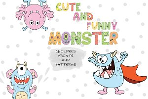 Kids Patterns & Alphabets - Monsters
