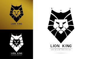 graceful Lion king silhouette logo