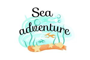 Sea Adventure Icon Isolated