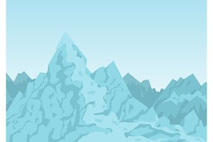 Mountains of Blue Color Image Vector