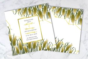 Template with Miscanthus