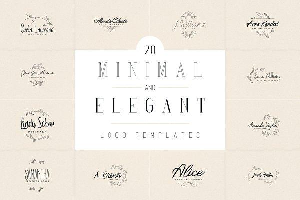 20 Minimal and Elegant Logos | -50%