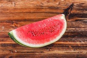 Big watermelon slice