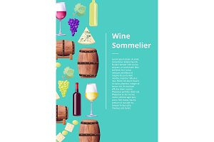 Wine Sommelier Info Poster with