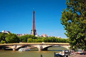 Eiffel Tower and Seine River, Paris