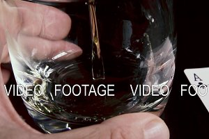 Slow motion strong alcoholic drink