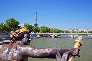 View on Eiffel Tower & Seine River