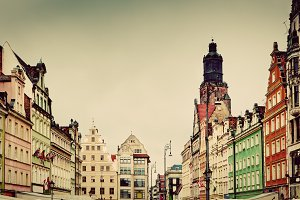 Wroclaw, Poland. Vintage, retro