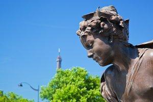 Statue on Alexandre Bridge, Paris