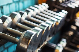 Number of dumbbells in the gym.
