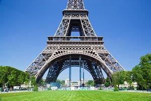 Lower part of Eiffel Tower, Paris